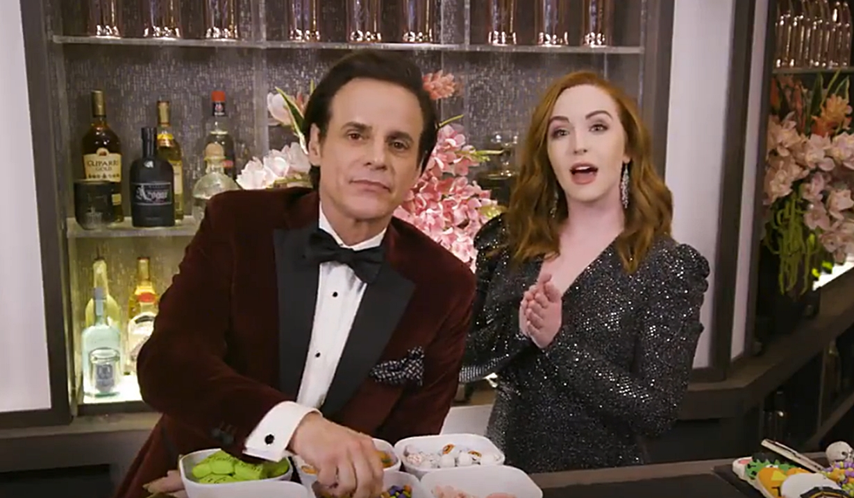 Christian LeBlanc, Camryn Grimes Halloween candycuterie boards Young and Restless