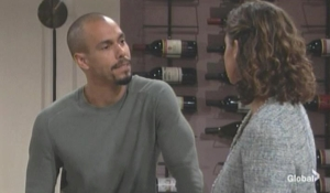 Devon and Elena discuss Jett's condition The Young and the Restless