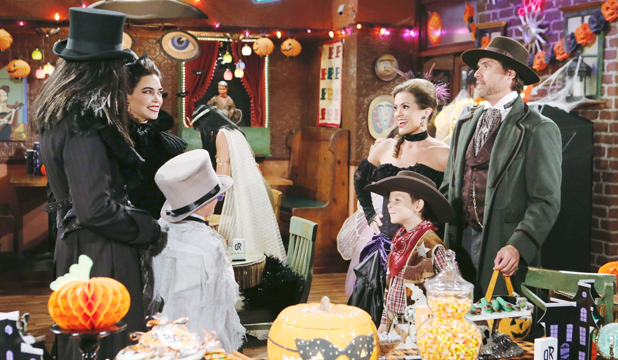 Victoria, Billy, Johnny, Chelsea, Christian and Nick Halloween Young and Restless