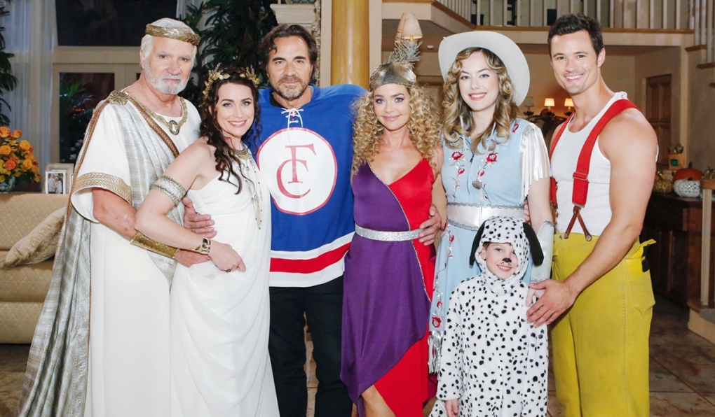 Eric, Quinn, Ridge, Shauna, Hope, Douglas, Thomas Halloween Bold and Beautiful
