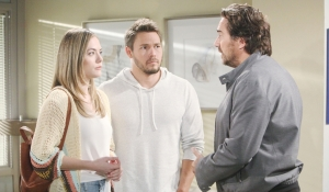 Hope, Liam and Ridge in hospital Bold and Beautiful