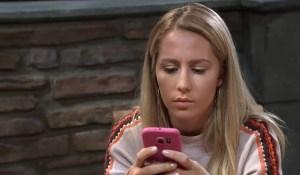 Joss sends a text General Hospital
