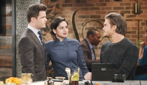 Kyle, Lola and Theo at Society Young and Restless