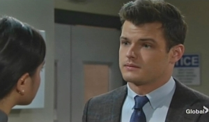 Lola learns news about Theo from Kyle Young and Restless