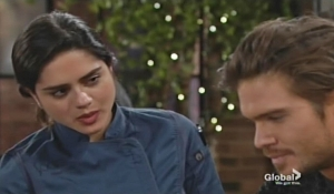 Lola gives Theo advice Young and Restless