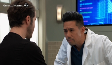 Lucas asks Brad about his mystery flowers General Hospital