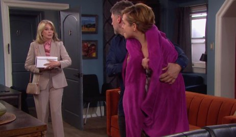 Marlena walks in on Eric and Nicole on Days of our Lives