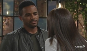 Nate and Amanda discuss his outburst Young and Restless