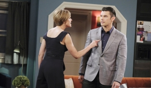 Nicole pokes Xander Days of our Lives