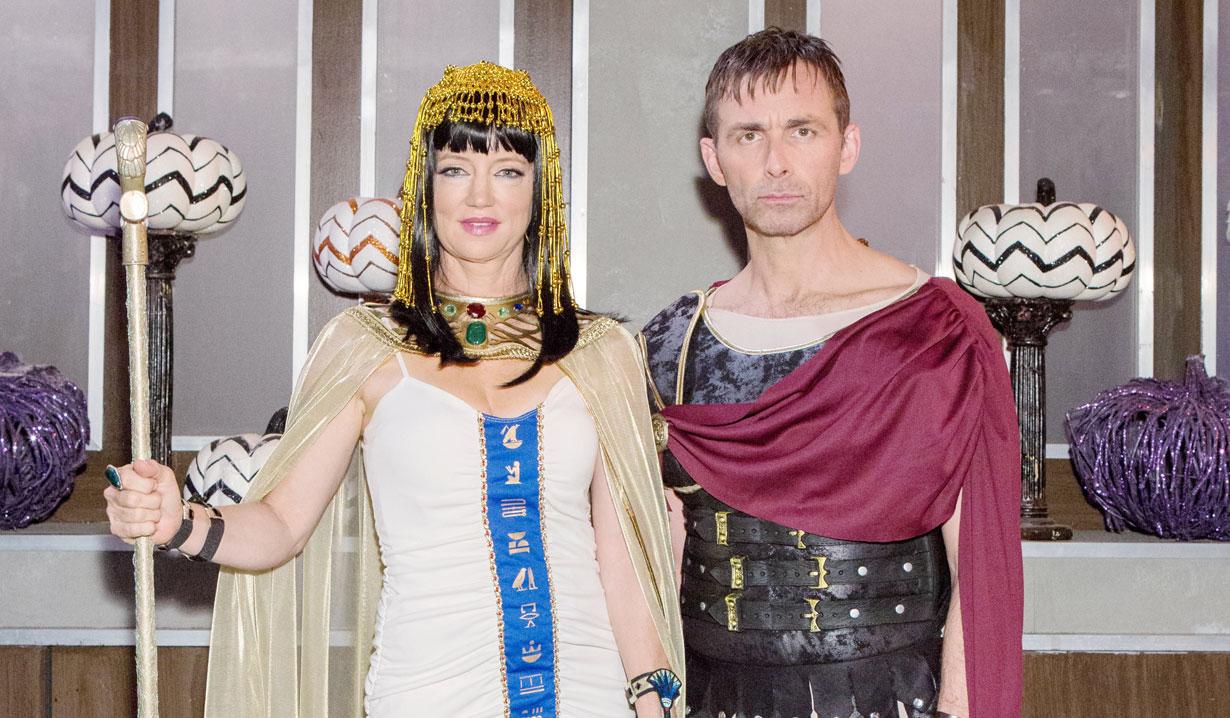 Nina and Valentin as Marc Antony and Cleopatra on General Hospital