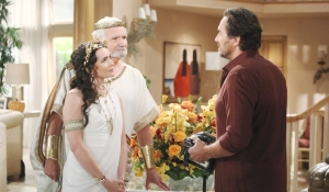 Quinn, Eric and Ridge before Halloween party Bold and Beautiful