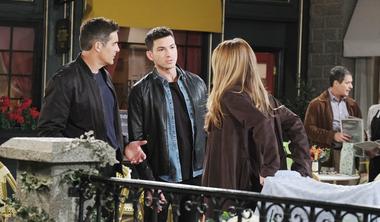 Rafe, Ben and Jordan in the square Days of our Lives