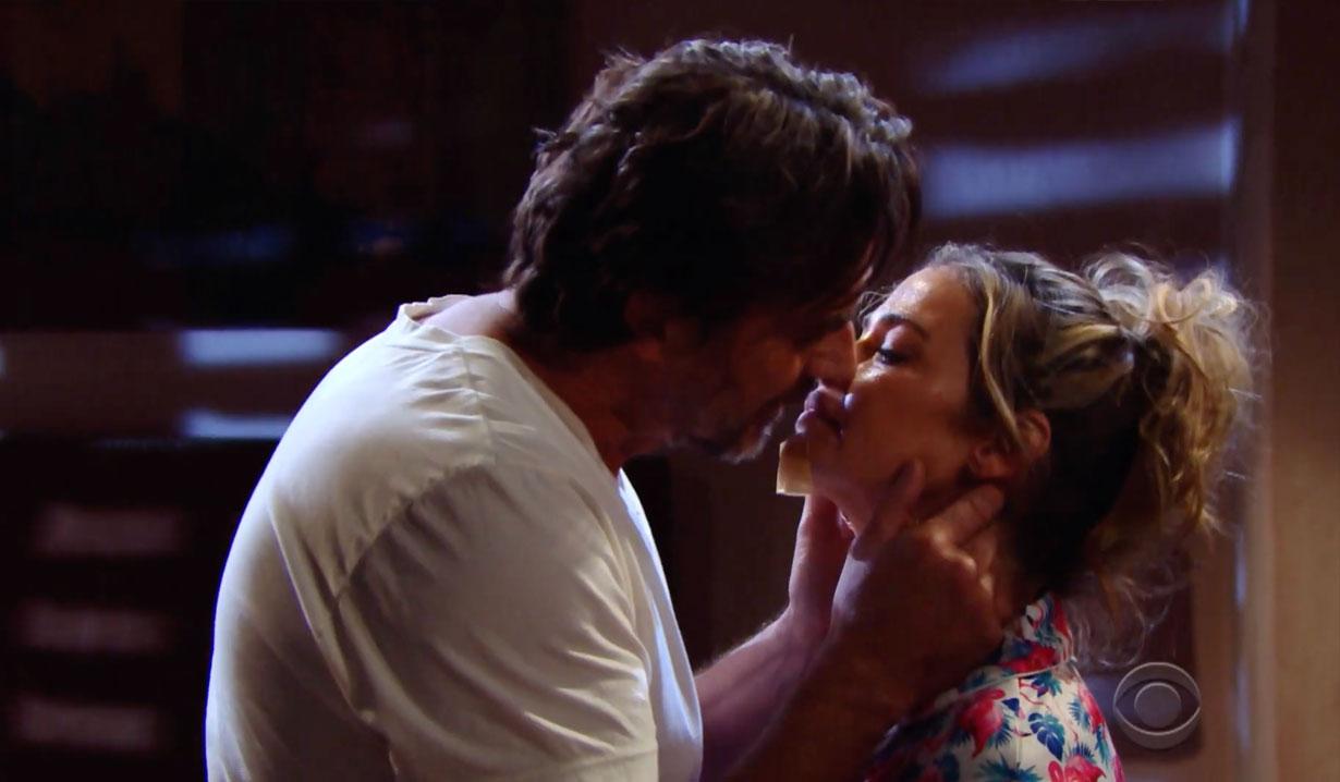 Ridge and Shauna kiss on Bold and the Beautiful