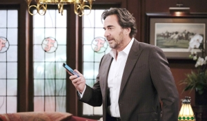Ridge on phone at Forrester Creations Bold and Beautiful