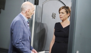 Rolf and Nicole at Eric's door Days of our Lives