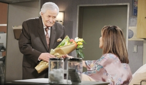 Victor gives Kate flowers Days of our Lives