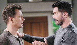 bill talks to wyatt about quinn's feelings engagement on bold and beautiful