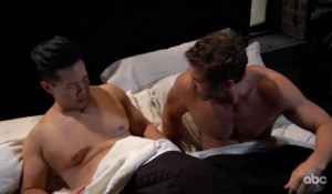 Brad wakes from a nightmare in bed with Lucas on General Hospital