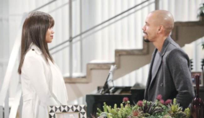 amanda and devon talk at penthouse on young and restless