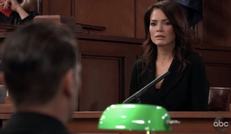Elizabeth on the stand on General Hospital