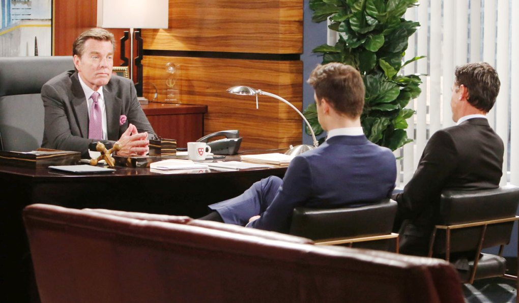 jack talks to kyle and billy about jabot changes on young and restless