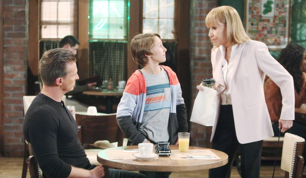Jason, Danny and Monica at Kelly's on General Hospital