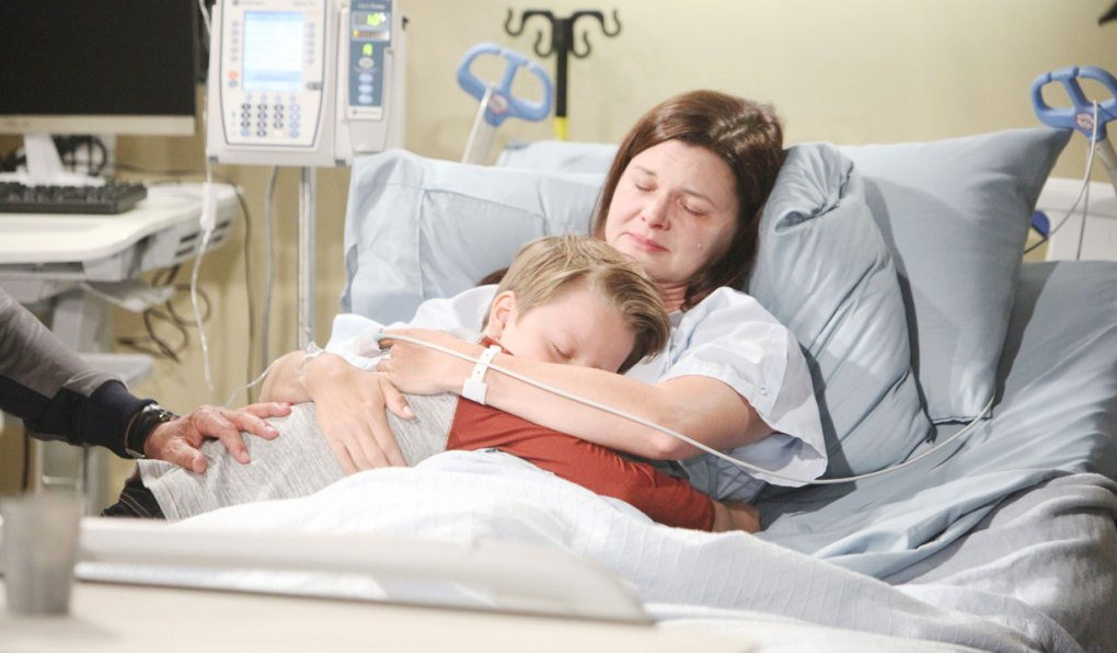 katie holds will in hospital on bold and beautiful