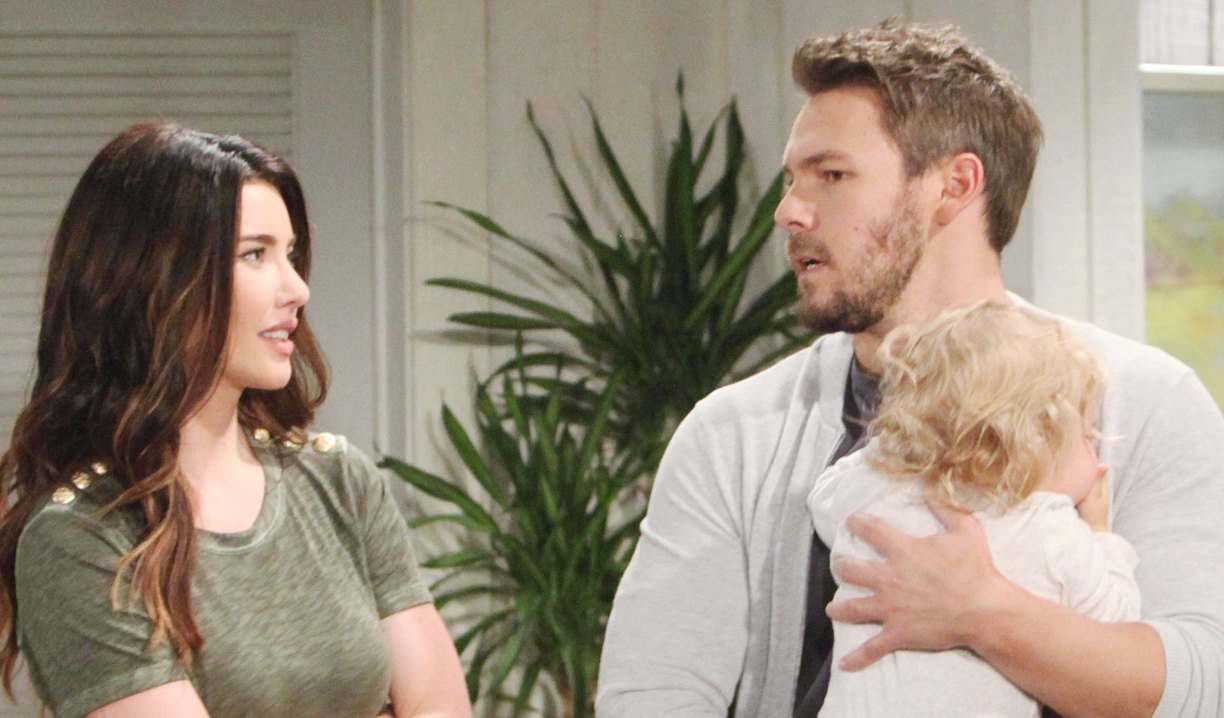 liam talks to steffy at cliffhouse on bold and beautiful