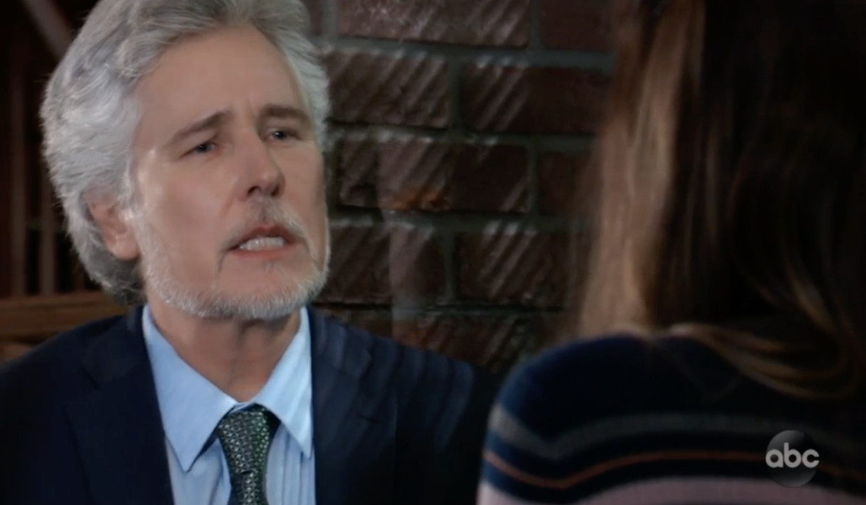 Martin goes over strategy with Kim on General Hospital