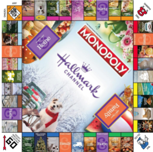 hallmark monopoly game board
