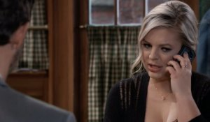 Maxie on the phone at Kelly's on General Hospital