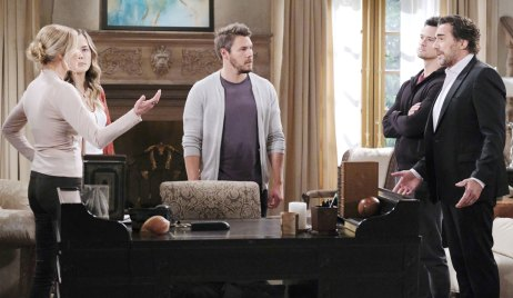 ridge confronts hope brooke liam about adoption papers on bold and beautiful