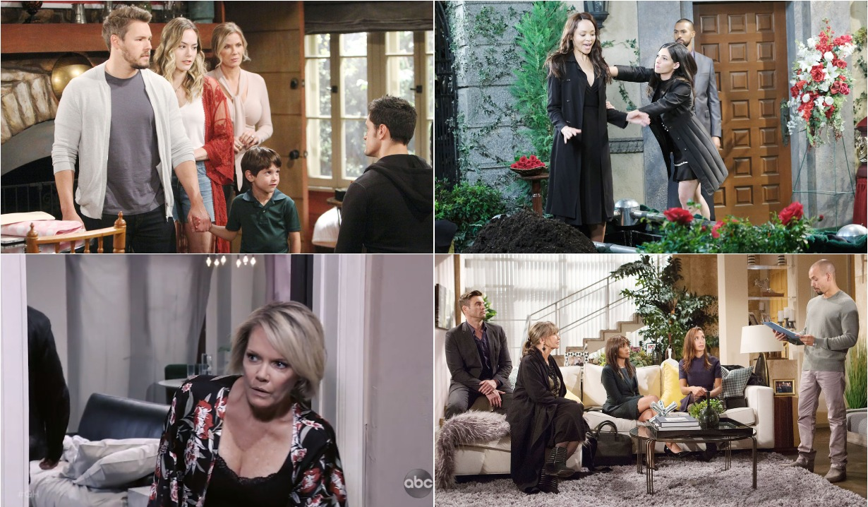 bold and beautiful days of our lives general hospital young and the restless roundup October 28