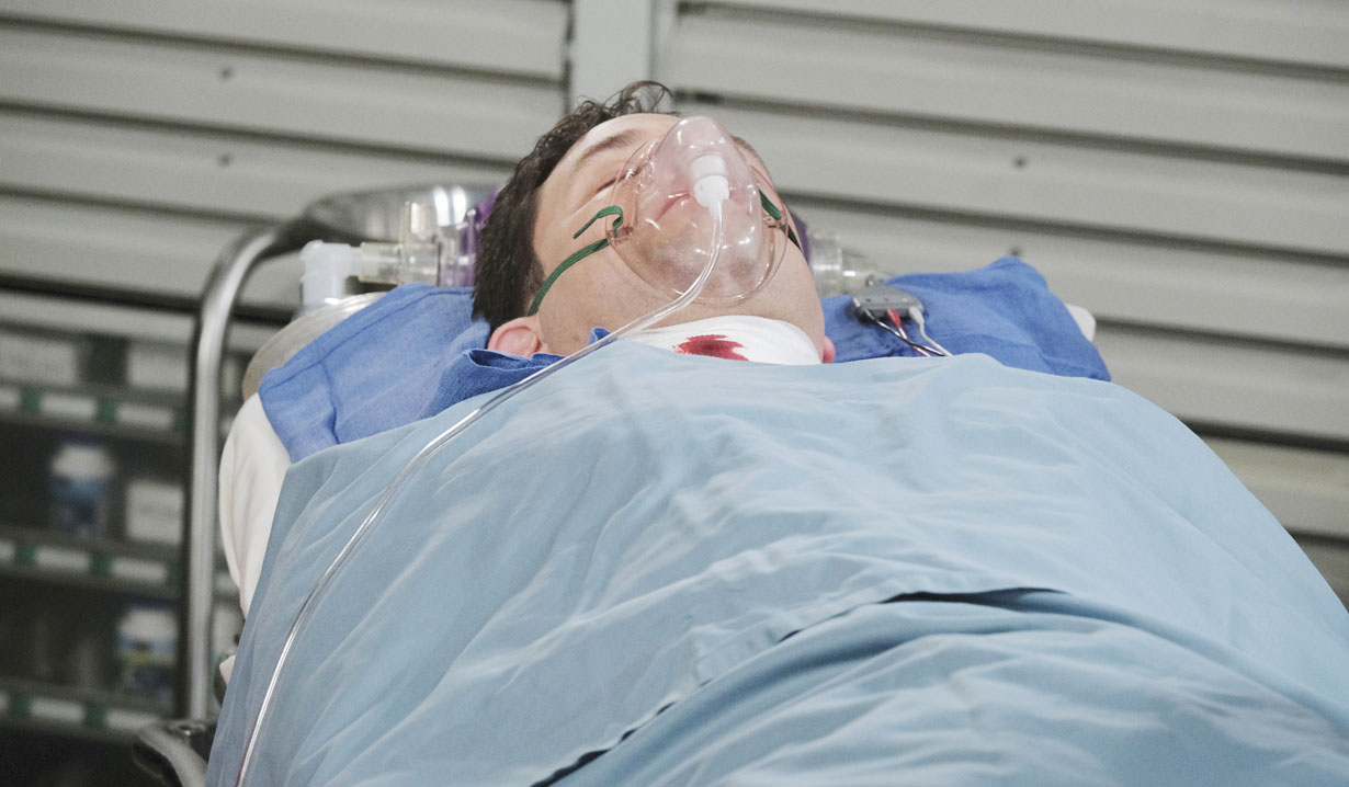 stefan hospital after shot by lani on days of our lives