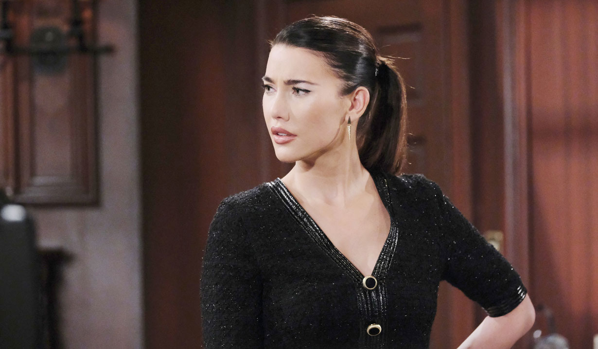 steffy looks irked on bold and beautiful