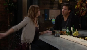 Summer gives Theo a pep talk The Young and the Restless