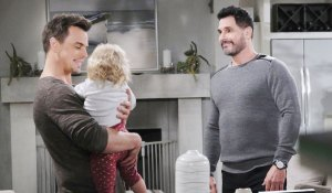 bill visits with kelly and wyatt on bold and beautiful