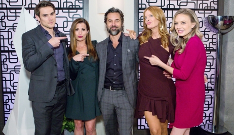 Adam, Chelsea, Simon, Phyllis and Abby Young and Restless