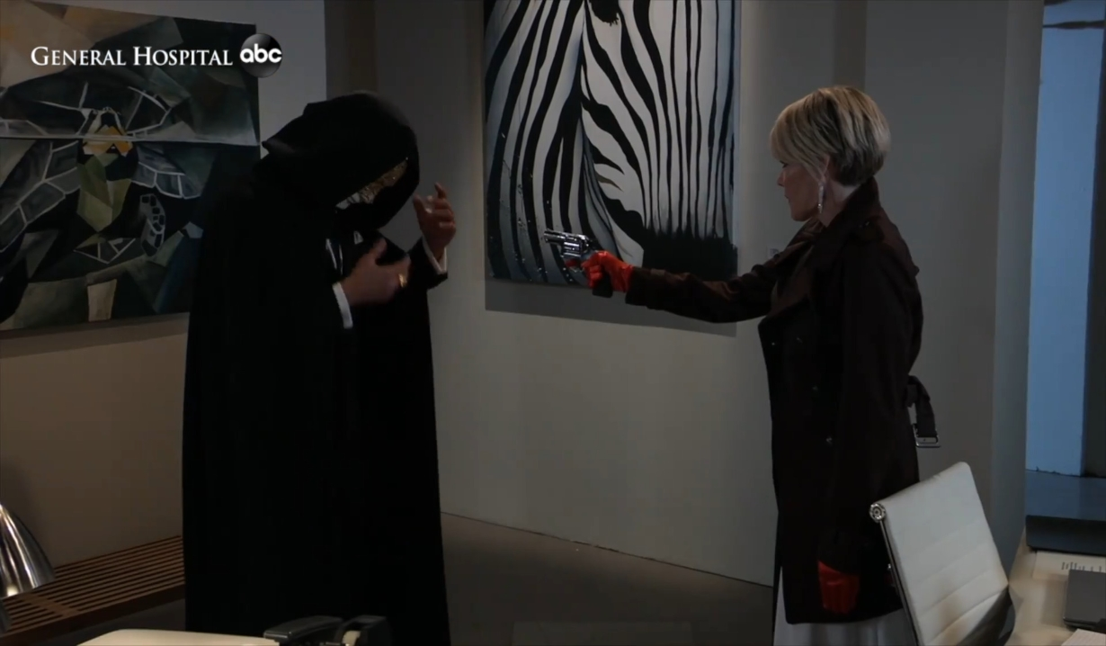Nina confronts masked Nikolas General Hospital