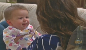 Sarah and baby Days of our Lives