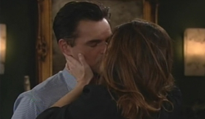 Billy and Victoria kiss Young and Restless