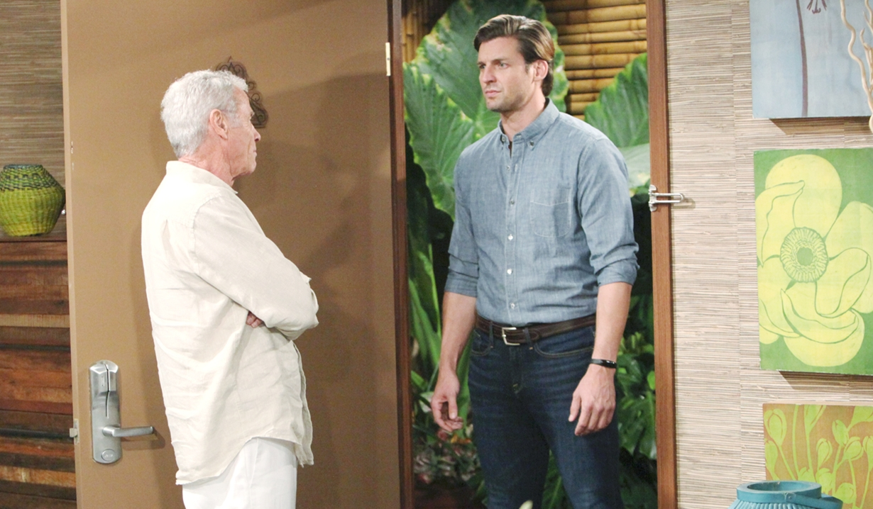 Colin answers the door to Chance