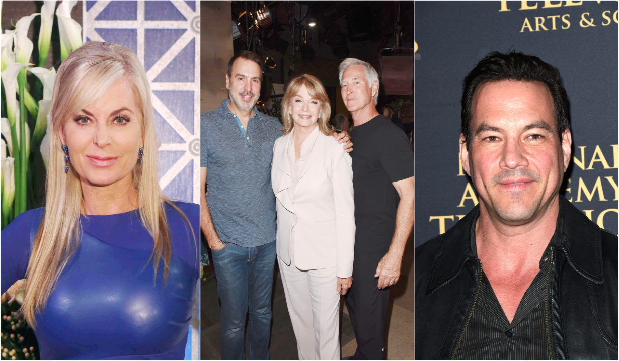 Eileen Davidson Frank Valentini Deidre Hall Drake Hogestyn Tyler Christopher soaps news days off our lives general hospital the young and the restless the bold and beautiful