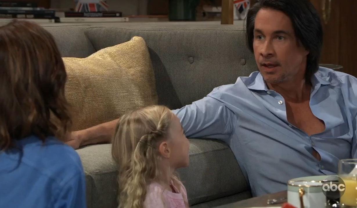 Finn tells violet he's her dad on General Hospital