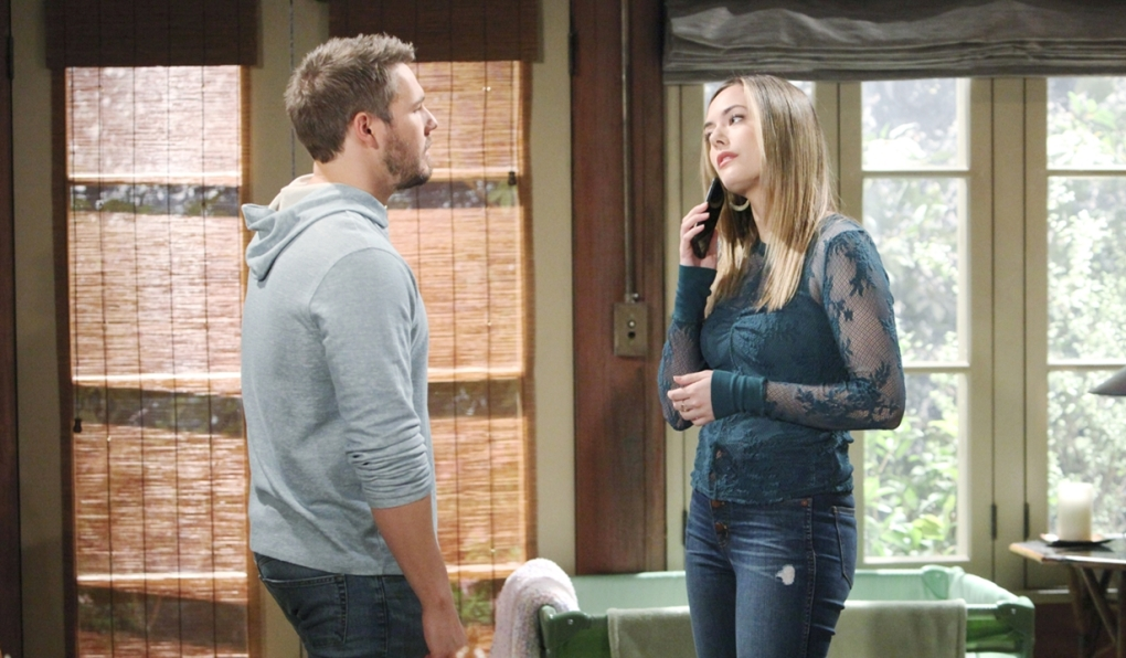 Liam and Hope in the cabin Bold and Beautiful