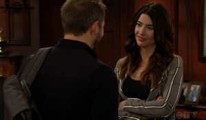 Liam and Steffy close moment Bold and Beautiful
