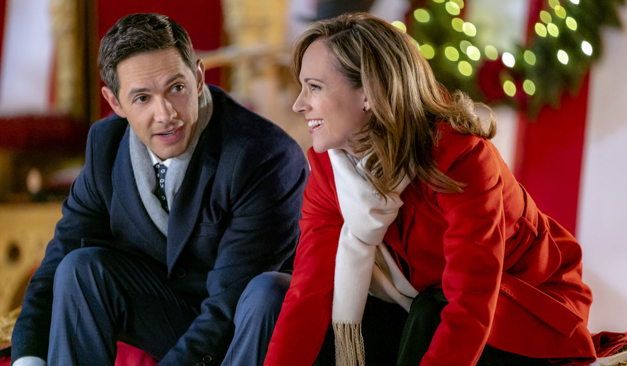 Nikki DeLoach, Michael Rady put on skates in Hallmark's Two Turtle Doves