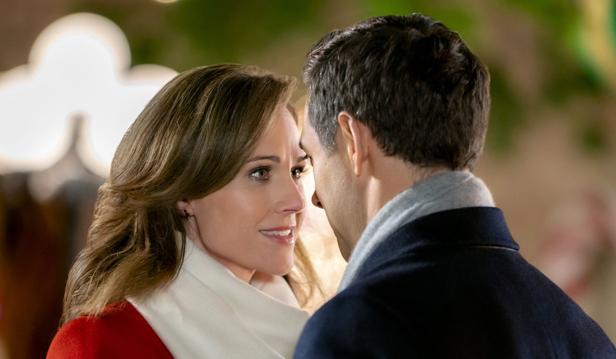 Nikki DeLoach, Michael Rady stare into each other's eyes in Hallmark's Two Turtle Doves