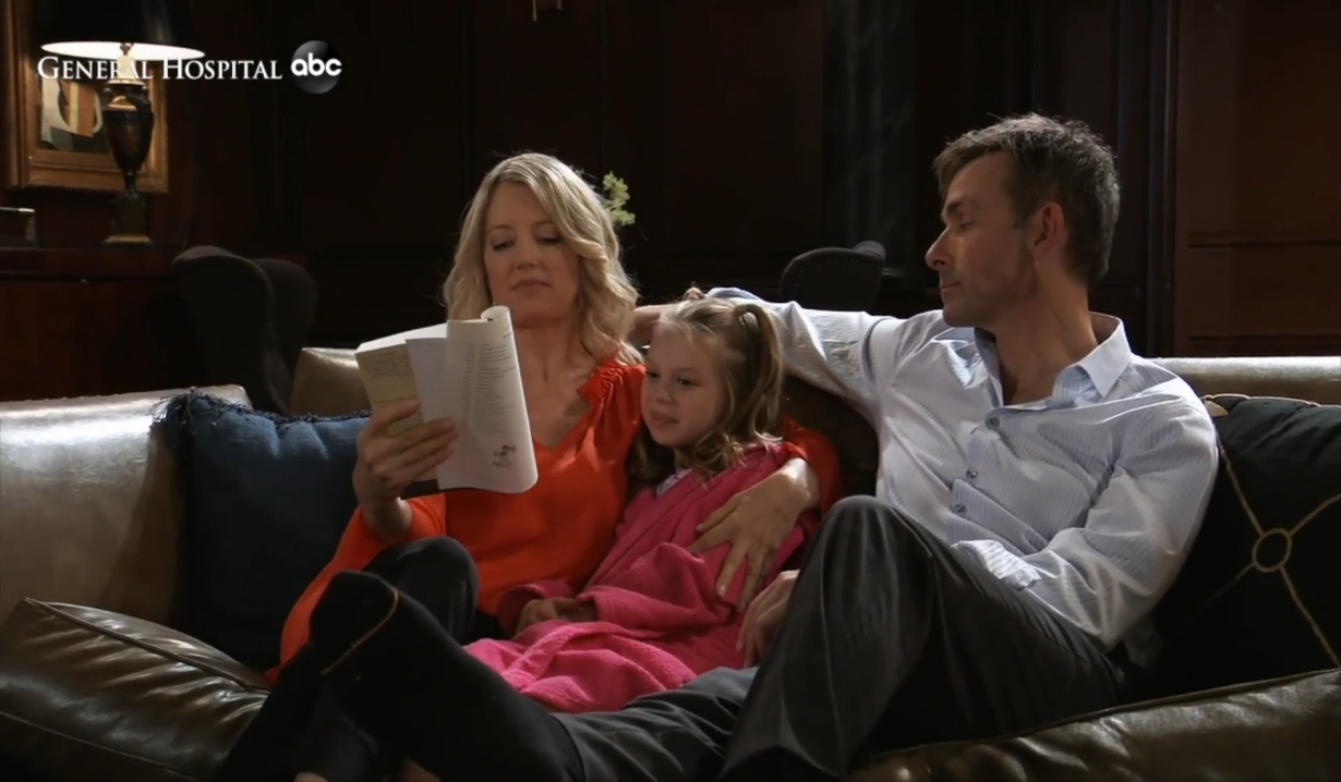 Nina reads with Charlotte and Valentin General Hospital