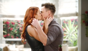 Sally Wyatt kiss Bold and Beautiful